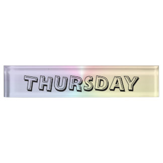 Thursday Alphabet Shimmer Desk Nameplate by Janz