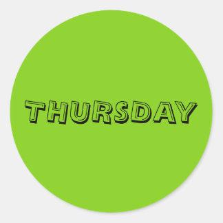 Thursday Alphabet Soup Yellowgreen Sticker by Janz
