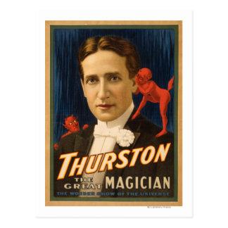 Thurston, Devil telling him secrets Magic 2 Postcard