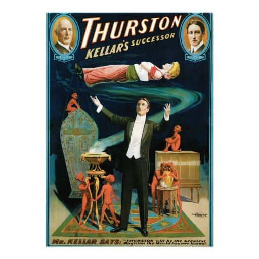 Thurston, Kellers Successor vintage Magician Custom Announcements