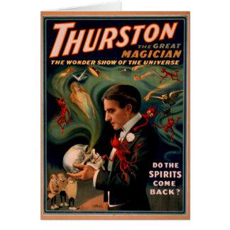 Thurston  Magician Birthday card