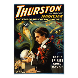 Thurston the Great Magician Card