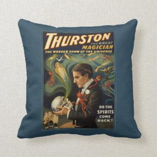 Thurston the Great Magician Holding Skull Magic Cushion