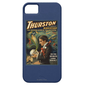 Thurston the Great Magician Holding Skull Magic iPhone 5 Cases