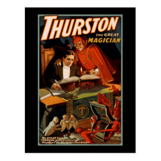 Thurston the great magician postcard