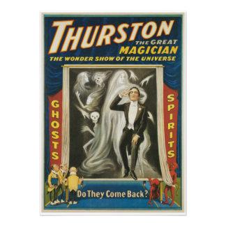 Thurston The Great Magician Vintage Advertisement Announcements