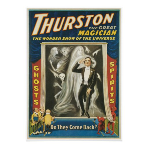 Thurston The Great Magician Vintage Advertisement Announcements
