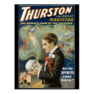 Thurston The Great Magician ~ Vintage Magic Act Postcard