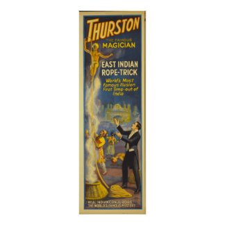 Thurston the magician - East Indian Rope Trick Poster