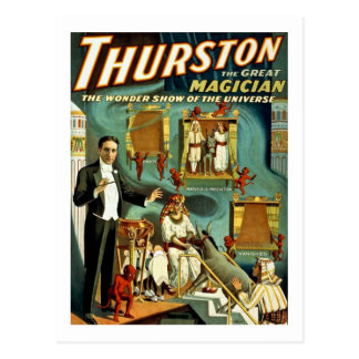 Thurston the Magician - The Wonder Show Postcard