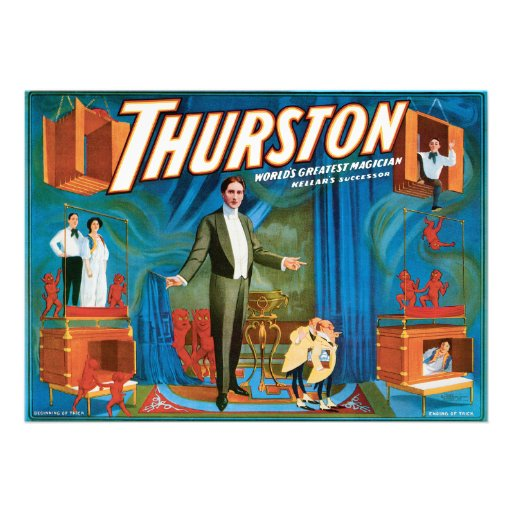 Thurston Vintage 1910 Magician Poster Custom Announcement