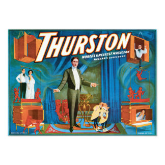 Thurston Vintage 1910 Magician Poster Custom Announcement