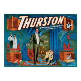 Thurston World's Greatest Magician ~ Vintage Act Poster