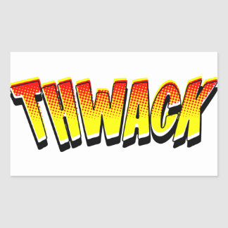 THWACK Comic Book Sound Effect Rectangular Sticker