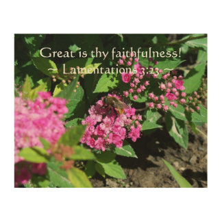 Thy Faithfulness Wood Canvas