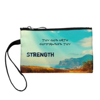 Thy God hath commanded thy strength Coin Purse