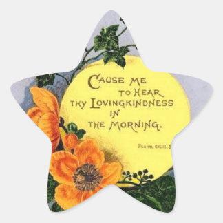 Thy Loving Kindness Star Sticker