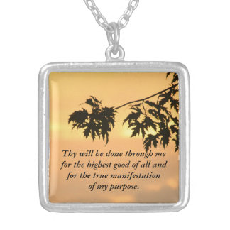 Thy will be done...Sunset Square Pendant Necklace