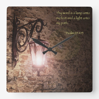 Thy word is a lamp clocks