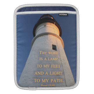 Thy Word Is a Lamp Lighthouse photo Christian iPad iPad Sleeve