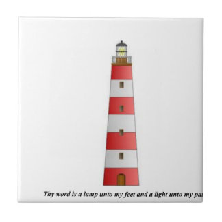 Thy word is a lamp small square tile