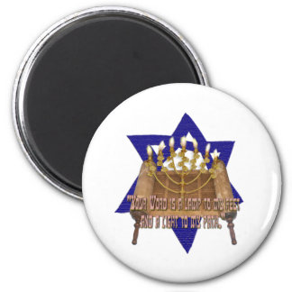 Thy Word is a Lamp To My Feet 6 Cm Round Magnet