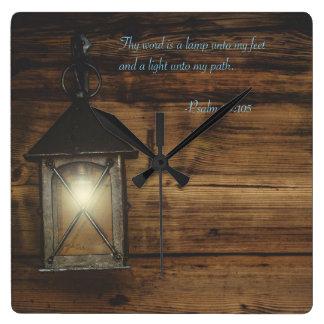 Thy word is a lamp wallclocks