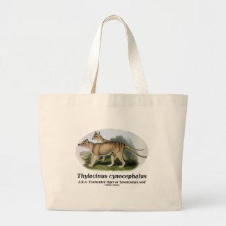 Thylacinus cynocephalus Tasmanian tiger or wolf Bags