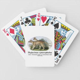 Thylacinus cynocephalus (Tasmanian tiger or wolf) Bicycle Poker Deck