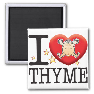 Thyme Love Man Square Magnet