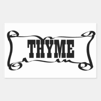 THYME 'SPICE JAR' STICKER