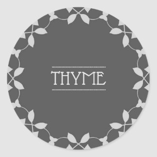 Thyme Spice Jar Sticker Labels