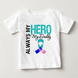 Thyroid Cancer ALWAYS MY HERO MY DADDY Baby T-Shirt