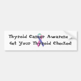 Thyroid Cancer Awareness (bumper sticker) Bumper Sticker