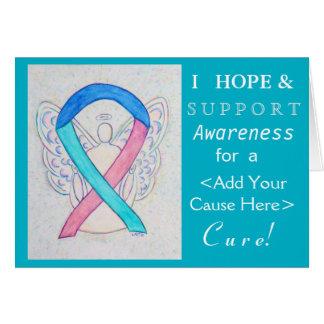 Thyroid Cancer Awareness Ribbon Custom Cause Cards