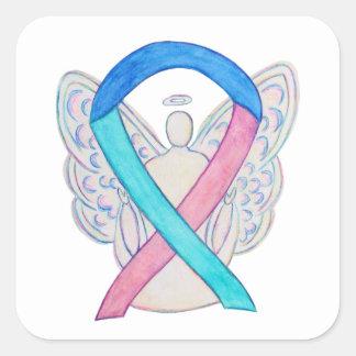 Thyroid Cancer Awareness Ribbon Sticker Decals