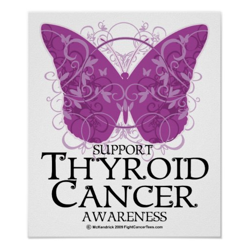 Thyroid Cancer Butterfly Print