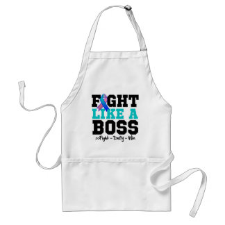 Thyroid Cancer Fight Like a Boss Adult Apron