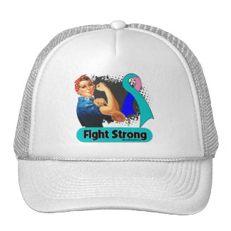 Thyroid Cancer Fight Strong Rosie Riveter Cap
