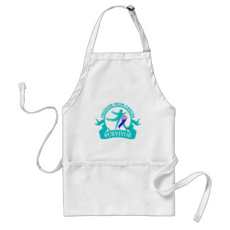 Thyroid Cancer - Freedom From Cancer Survivor Adult Apron