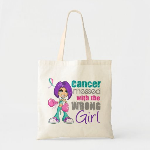 Thyroid Cancer Messed With Wrong Girl.png Bag