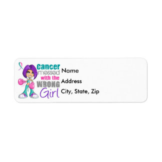 Thyroid Cancer Messed With Wrong Girl.png Return Address Label