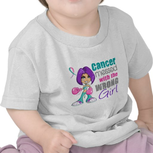 Thyroid Cancer Messed With Wrong Girl.png Tshirts