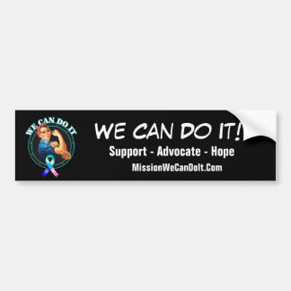Thyroid Cancer - Rosie The Riveter - We Can Do It Bumper Sticker
