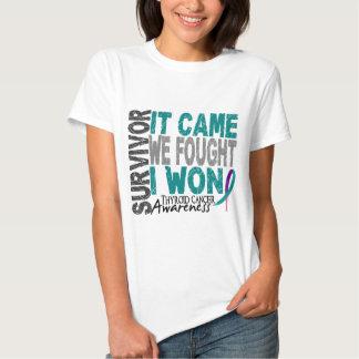 Thyroid Cancer Survivor It Came We Fought I Won T-Shirt