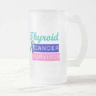Thyroid Cancer Survivor Frosted Glass Mug