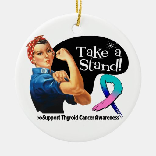 Thyroid Cancer Take a Stand Christmas Tree Ornaments