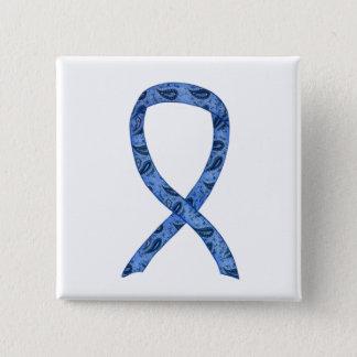 Thyroid Disease Awareness Paisley Ribbon Pin