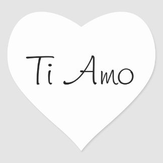 Ti Amo/I Love You Heart Sticker