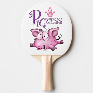 Ti-PIG Cartoon Ping Pong Paddle,  Back FULL PRINT
